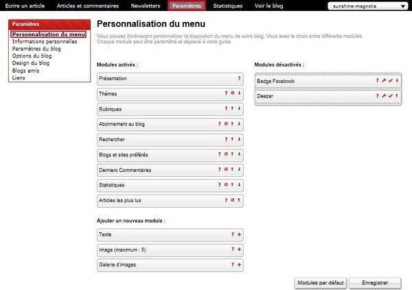 Astuce : Comment personnaliser notre menu de notre blog ?
